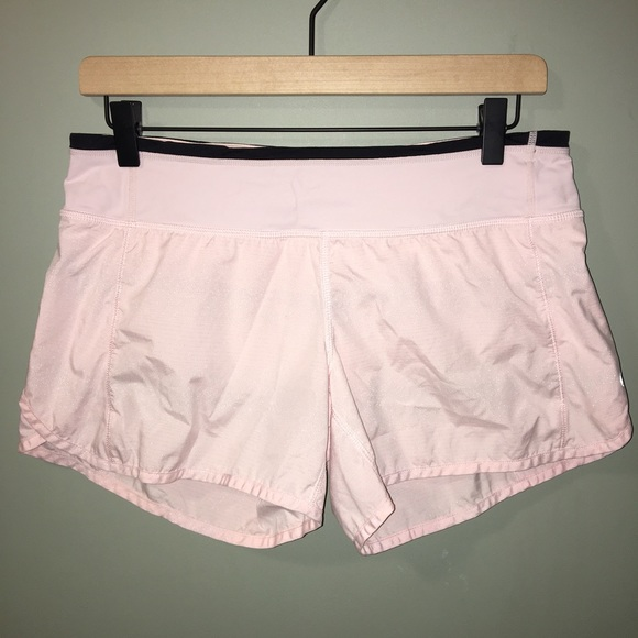 lululemon Run Speed Shorts in Blush Quartz